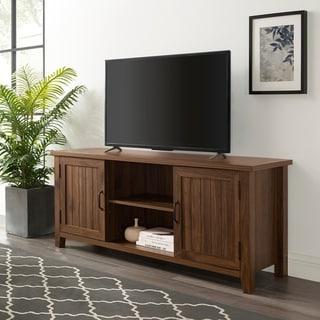 Current Grooved Door Corner Tv Stands For Shop Allen 3 Drawer Entertainment Center – Overstock –  (View 5 of 10)