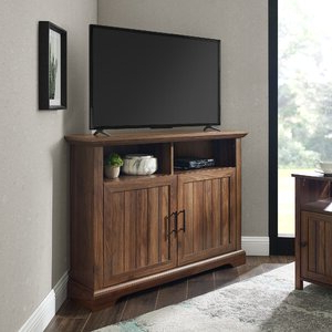 """Current Three Posts™ Tomball Corner Tv Stand For Tvs Up To 48 Pertaining To Corner Tv Stands For Tvs Up To 48"""" Mahogany (View 6 of 10)"""