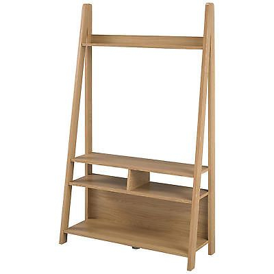 Current Tiva Ladder Tv Stands With Regard To Oak Finish Flat Screen Plasma Lcd Tv Table Stand Cabinet (View 5 of 10)