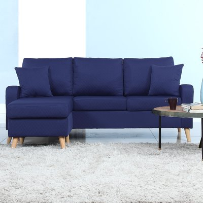 Current Varick Gallery Northville Reversible Sectional Upholstery Pertaining To Verona Mid Century Reversible Sectional Sofas (View 4 of 10)