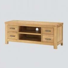 Current Wexford Tv Stand In White High Gloss Fronts And Oak With Throughout Canyon Oak Tv Stands (View 5 of 10)