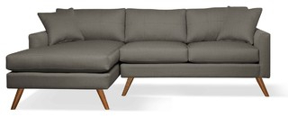 Dane Sofa With Chaise – Midcentury – Sectional Sofas – Pertaining To Latest 4pc Crowningshield Contemporary Chaise Sectional Sofas (View 3 of 10)