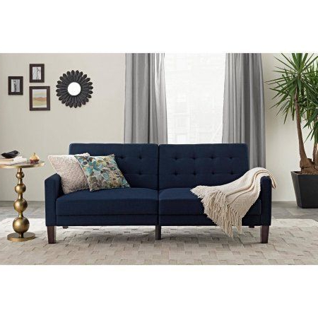 Debbie Coil Sectional Futon Sofas Intended For Widely Used Better Homes & Gardens Porter Fabric Tufted Firm Futon (View 7 of 10)