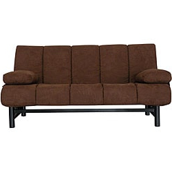 Debbie Coil Sectional Futon Sofas With Popular Ava Armless Pocket Coil Dark Brown Microfiber Sleeper Sofa (View 10 of 10)