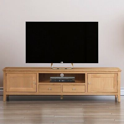 Deco Wide Tv Stands For Latest Long Oak Tv Stand (View 3 of 10)
