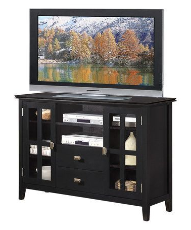 Dillon Black Tv Unit Stands For 2018 Look What I Found On #zulily! Black Artisan Tv Stand # (View 6 of 10)