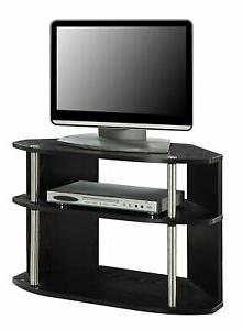 Dillon Black Tv Unit Stands Regarding Popular Black Tv Stand Wooden Entertainment Storage Cabinet Corner (View 3 of 10)
