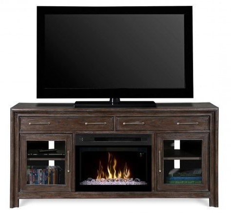 Dimplex Gds25gd 1415wbn Woolbrook Media Console In A Inside Famous Fireplace Media Console Tv Stands With Weathered Finish (View 10 of 10)