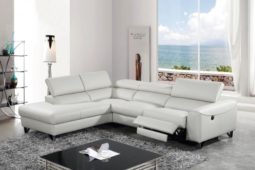 Divani Casa Versa Modern Light Grey Eco Leather Sectional Pertaining To Well Liked Florence Mid Century Modern Left Sectional Sofas (View 9 of 10)