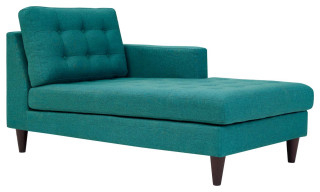 Dulce Mid Century Chaise Sofas Dark Blue Regarding Recent Left Arm Upholstered Fabric Chaise – Midcentury – Indoor (View 6 of 10)