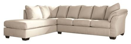 Dulce Right Sectional Sofas Twill Stone Intended For Popular Ashley Darcy Collection 75000 66 17 2 Piece Sectional With (View 7 of 10)