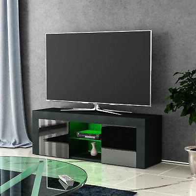 Eclipse Led Tv Stand Cabinet Unit 2 Door Modern Matte Inside Well Known Modern 2 Glass Door Corner Tv Stands (View 6 of 10)