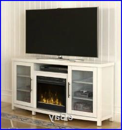 """Electric Fireplace Entertainment Center White Media Tv With Preferred Chicago Tv Stands For Tvs Up To 70"""" With Fireplace Included (View 6 of 10)"""