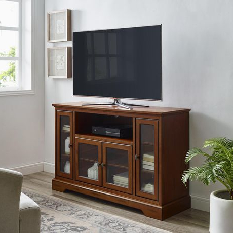 """Entertainment Center Tv Stands Reclaimed Barnwood Inside Current We Furniture 52"""" Brown Wood Highboy Tv Stand (View 1 of 10)"""