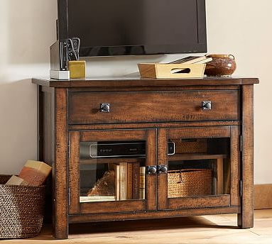 Entertainment Center Tv Stands Reclaimed Barnwood Inside Widely Used Benchwright Tv Stand, Small (View 6 of 10)