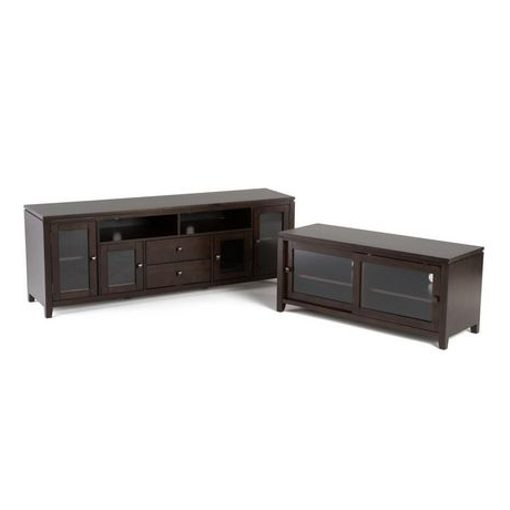 Essex Solid Wood 48 Inch Wide Contemporary Tv Media Stand With Regard To Trendy Tribeca Oak Tv Media Stand (View 5 of 10)