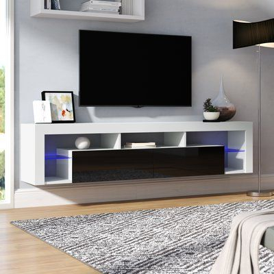 """Evelynn Tv Stands For Tvs Up To 60"""" Within 2018 Orren Ellis Floating Milano Böttcher Wall Mounted Floating (View 3 of 10)"""
