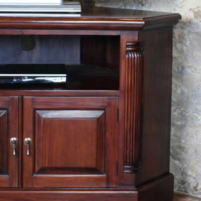 Exhibit Corner Tv Stands In Most Current La Roque Solid Mahogany Corner Tv Unit – Robson Furniture (View 10 of 10)