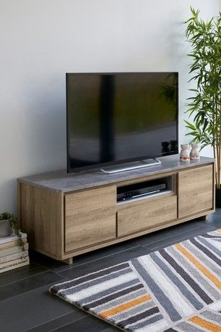 Exhibit Corner Tv Stands Throughout Most Recent Buy Barkley Wide Tv Stand From The Next Uk Online Shop (View 1 of 10)