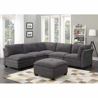 Fabric Sectional For Paul Modular Sectional Sofas Blue (View 7 of 10)