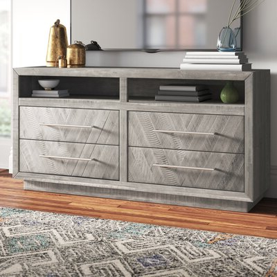 """Famous Ailiana Tv Stands For Tvs Up To 88"""" For Rothwell 64'' Solid Acacia Wood Tv Stand For Tvs Up To  (View 3 of 10)"""