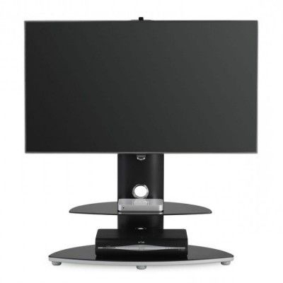 Famous Alphason Black Bracketed Glass Tv Stand New Alpha Inside Glass Shelf With Tv Stands (View 10 of 10)