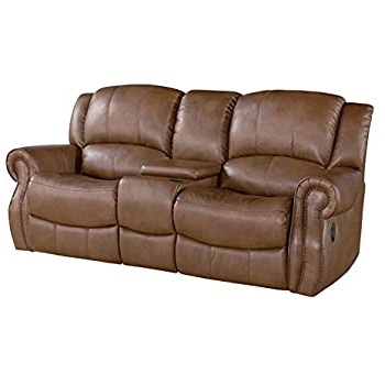 Famous Amazon: Abbyson Winston Leather Reclining Sofa In Throughout Winston Sofa Sectional Sofas (View 5 of 10)