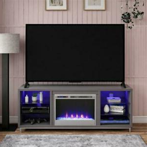 Famous Ameriwood Home Carson Tv Stands With Multiple Finishes With Ameriwood Home Lumina Fireplace Tv Stand For Tvs Up To  (View 8 of 10)
