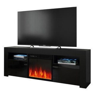 """Famous Boston Tv Stands With Regard To Shop Boston Wh01 Electric Fireplace Modern 79"""" Tv Stand (View 10 of 10)"""