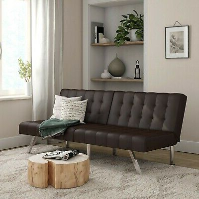 Famous Convertible Sofa Bed And Couch, Brown Sleeper Weight 600 Intended For Easton Small Space Sectional Futon Sofas (View 3 of 10)