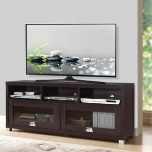 Famous Flat Screen Tv Stand Up To 75 Inch 50 55 60 65 70 55in Pertaining To Tier Entertainment Tv Stands In Black (View 8 of 10)