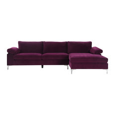 Famous Florence Mid Century Modern Left Sectional Sofas Within Shop Top Rated L Shaped Sectional Sofas (View 5 of 10)