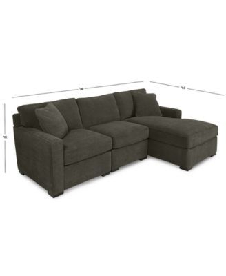 Famous Furniture Radley 3 Piece Fabric Chaise Sectional Sofa With Regard To 3pc Polyfiber Sectional Sofas (View 7 of 10)