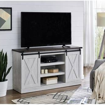 """Famous Glass Shelves Tv Stands For Tvs Up To 65"""" With Regard To Emanuel Tv Stand For Tvs Up To 65"""" In  (View 1 of 10)"""