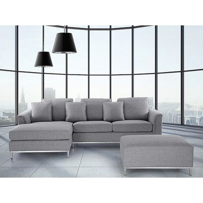 Famous Kiefer Right Facing Sectional Sofas Pertaining To Beliani Modern Right Hand Facing Sectional (View 2 of 10)