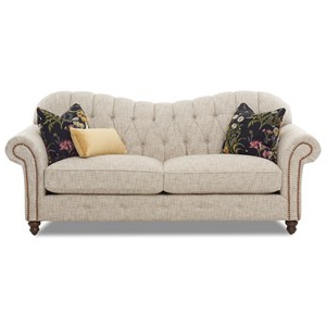 Famous Klaussner Shelby Traditional Sweetheart Back Sofa With Within Shelby Corner Tv Stands (View 10 of 10)
