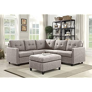 Famous Paul Modular Sectional Sofas Blue Intended For Amazon: Dazone Modular Sectional Sofa Assemble 6 Piece (View 3 of 10)