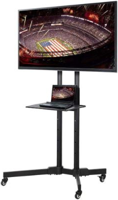 """Famous Top 13 Best Rolling Tv Stands For Flat Screen With Tv Stands With Cable Management For Tvs Up To 55"""" (View 9 of 10)"""
