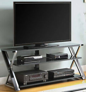 Famous Tv Stand Black High Gloss Glass Shelves 70 Inch Metal Intended For Ktaxon Modern High Gloss Tv Stands With Led Drawer And Shelves (View 10 of 10)