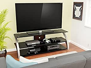 Fashionable Amazon: Z Line Designs Elecktra Tv Stand, 55 Inch With Regard To Rfiver Modern Black Floor Tv Stands (View 6 of 10)