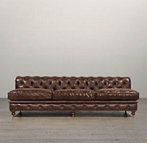 Fashionable Armless Leather Sofa – Ideas On Foter Throughout Celine Sectional Futon Sofas With Storage Camel Faux Leather (View 10 of 10)