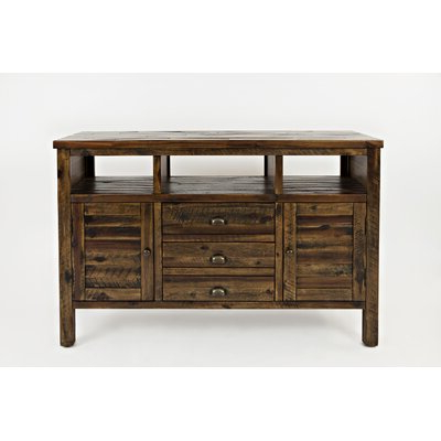 Fashionable Boahaus Dakota Tv Stands With 7 Open Shelves With Birch Lane™ Leija Solid Wood Tv Stand For Tvs Up To  (View 1 of 10)