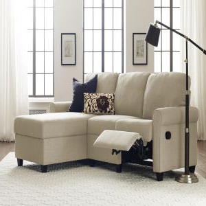 Fashionable Celine Sectional Futon Sofas With Storage Camel Faux Leather Inside Sectional Sofas With Recliners Big Lots (View 5 of 10)
