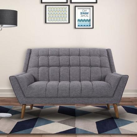 Fashionable Cobra Mid Century Dark Gray Linen Modern Sofa – 1stopbedrooms (View 1 of 10)