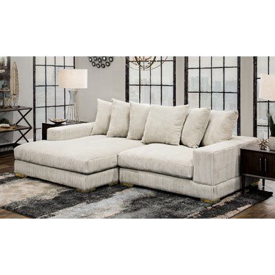 """Fashionable Homesean & Catherine Lowe Luxe 107"""" Wide Right Hand Pertaining To Hannah Right Sectional Sofas (View 5 of 10)"""