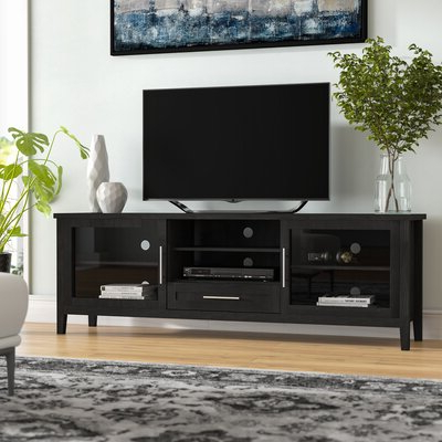 """Fashionable Latitude Run® Jon Tv Stand For Tvs Up To 78"""" & Reviews With Tenley Tv Stands For Tvs Up To 78"""" (View 3 of 10)"""