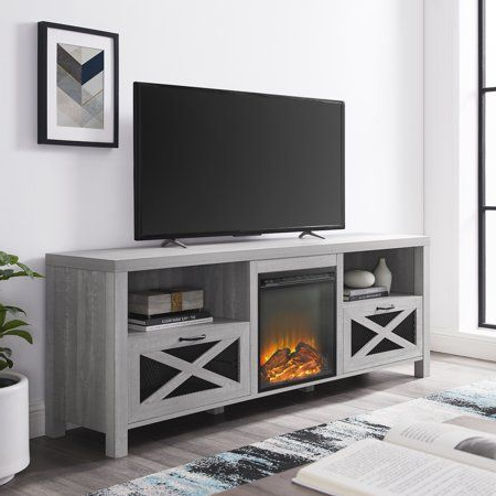 """Fashionable Manor Park Rustic Fireplace Tv Stand For Tvs Up To 78 For Grandstaff Tv Stands For Tvs Up To 78"""" (View 6 of 10)"""