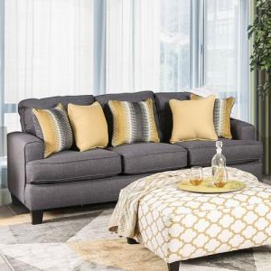 Fashionable Noa Sectional Sofas With Ottoman Gray For Orson Gray Gray Fabric Sofa Sm8600 Sffurniture Of America (View 7 of 10)