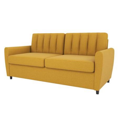Fashionable Novogratz Brittany Sleeper Sofa With Memory Foam Mattress Inside Brittany Sectional Futon Sofas (View 6 of 10)