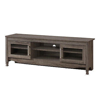 """Fashionable Techni Mobili Grey Driftwood Tv Stand Grey Compressed Wood For Techni Mobili 53"""" Driftwood Tv Stands In Grey (View 10 of 10)"""